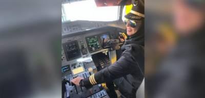 پہلی سعودی خاتون پائلٹ کا حائل ہوائی اڈے پہنچنے پر شاندار استقبال