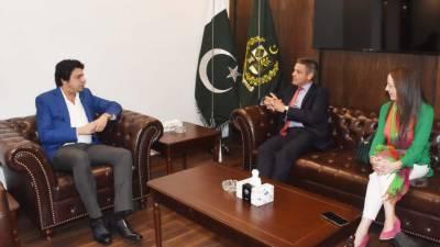فیصل واوڈا سے برطانوی حکومت کے ٹریڈ کمشنر کی ملاقات