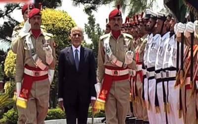افغان صدر کا دورہ پاکستان میں شاندار استقبال، گارڈ آف آنر پیش