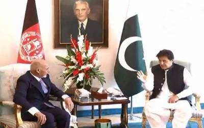 وزیراعظم عمران خان اور افغان صدراشرف غنی کی ون آن ون ملاقات