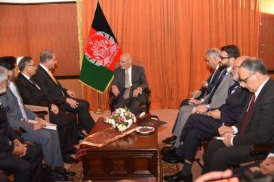 وزیر خارجہ شاہ محمود قریشی سے افغان صدر اور ان کے وفد کی ملاقات