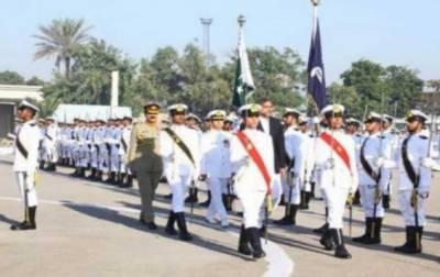 پاکستان نیول اکیڈمی میں پاسنگ آئوٹ پریڈ کا انعقاد