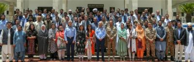 نیشنل سیکورٹی ورکشاپ بلوچستان کے شرکا کا ایئر ہیڈ کوارٹرز کادورہ