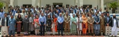 نیشنل سیکورٹی ورکشاپ بلوچستان کے شرکاء کا ائیر ہیڈ کوارٹر ز اسلام آباد کادورہ