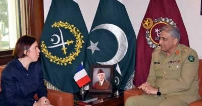 فرانس کے قومی دفاع اور سلامتی کی جنرل سیکرٹری کی آرمی چیف سے ملاقات، باہمی دلچسپی کے امور پر تبادلہ خیال