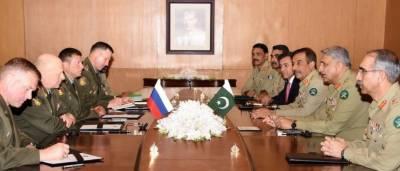 پاکستان اور روس کے درمیان تعاون سے خطے میں امن و استحکام بہتر بنانے میں مدد ملے گی ،آرمی چیف