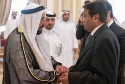 مشرف کی شارجہ کے حکمران شیخ سلطان بن محمد القاسمی سے ملاقات