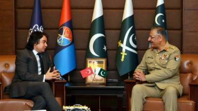 جنرل زبیرمحمودحیات،ترک سفیر کا باہمی تعلقات مزیدمستحکم کرنے سے متعلق امورپرتبادلہ خیال