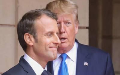 ٹرمپ کا فرانسیسی ہم منصب سے ایران کے جوہری پروگرام پر تبادلہ خیال