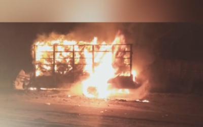 مظفرگڑھ: ٹریکٹرٹرالی اور ٹریلر میں تصادم، ڈرائیور جاں بحق