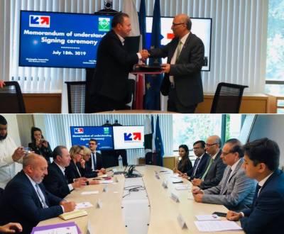 پاکستان اور فرانس کے درمیان تجارت، سرمایہ کاری اور کاروبار کے فروغ کیلئے دوطرفہ یادداشت پر دستخط