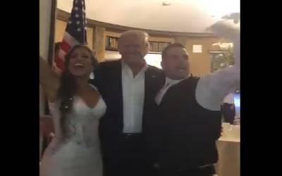 امریکی صدر اچانک ایک شادی کی تقریب میں جا پہنچے۔