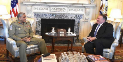 بری فوج کے سربراہ اور امریکی وزیر خارجہ کا علاقائی سلامتی کے امور پر تبادلہ خیال