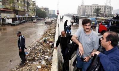 وزیراعلیٰ سندھ کا مختلف علاقوں کااچانک دورہ، کچرے کے ڈھیر دیکھ کر ناراضگی کا اظہار