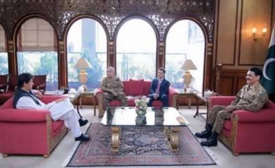 وزیراعظم سے آرمی چیف اور ڈی جی آئی ایس آئی کی ملاقات، اہم امور پر تبادلہ خیال