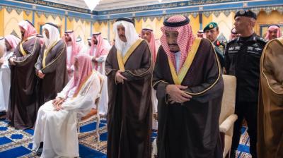 شاہ سلمان کی شہزادہ بندر بن عبدالعزیز کی نماز جنازہ میں شرکت