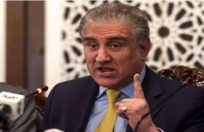 کشمیر کے معاملے پر پوری پاکستانی قوم اور پارلیمان یک زبان ہے: وزیر خارجہ شاہ محمود قریشی