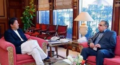 وزیرِاعظم عمران خان سےگورنر سندھ عمران اسمعیل کی وزیرِاعظم آفس میں ملاقات