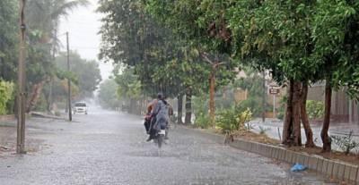 ملک کے بعض علاقوں میں بارش کا مکان