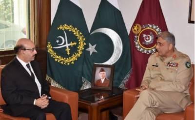 آرمی چیف سے صدر آزاد کشمیر سردار مسعود خان کی ملاقات، پاک فوج کشمیر کاز کی مکمل حمایت کرتی ہے: آرمی چیف