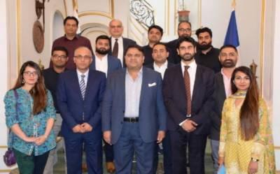 وفاقی وزیر برائے سائنس و ٹیکنالوجی فواد چوہدری کا پاکستانی نژاد فرانسیسی پروفیشنلز کو سائنس اور ٹیکنالوجی کے بنیادی ڈھانچے کو بہتری بنانے میں مدد کی دعوت