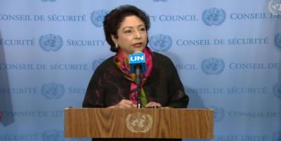 سلامتی کونسل کے مشاورتی اجلاس میں مقبوضہ جموں و کشمیر کے عوام کی آواز سنی گئی،ملیحہ