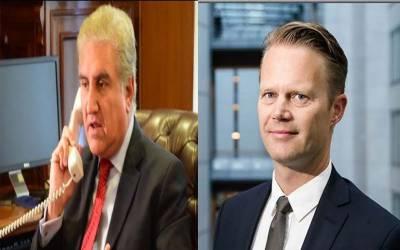 وزیر خارجہ شاہ محمود کا ڈینش ہم منصب سے رابطہ ٹیلی فونک رابطہ