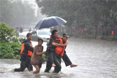 چین: بارشوں و سیلاب کے باعث 7 افراد ہلاک، 24 لاپتہ