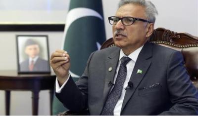 پاکستان بھارت کے ساتھ جنگ نہیں چاہتا تاہم اگراس پرجنگ مسلط کی گئی تو پاکستان اس کامنہ توڑ جواب دے گا،صدرڈاکٹرعارف علوی