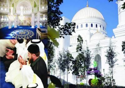 چیچنیا میں یورپ کی سب سے بڑی مسجد کا افتتاح' صدر نے بھی نماز پڑھی