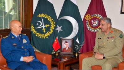 آرمی چیف اور چین کے سنٹرل ملٹری کمیشن کے وائس چیئرمین کا مقبوضہ کشمیر کی صورتحال کا جائزہ