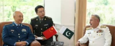 چینی سینٹرل کمیشن کے وائس چیئرمین جنرل زو کلی آنگ کا اعلیٰ سطح کے وفد کے ساتھ نیول ہیڈکوارٹرز اسلام آباد کا دورہ