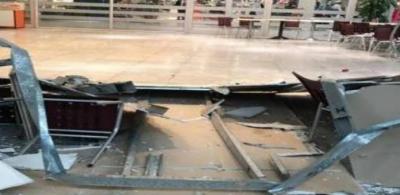 جدہ ایئرپورٹ کے حج ٹرمینل کی چھت کا ایک حصہ گرگیا