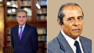 وزیر خارجہ شاہ محمود قریشی کا سری لنکن ہم منصب تلک مارا پانا سے ٹیلیفونک رابطہ