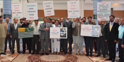 مقبوضہ کشمیر کے مظلوم عوام کے ساتھ اظہار یکجہتی کیلئے دنیا کے مختلف ملکوں میں کشمیر آور منایا گیا