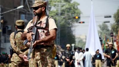 پنجاب حکومت کیمحرم الحرام میں 29 اضلاع میں فوج کی تعینات کرنے کی درخواست