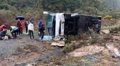 نیوزی لینڈ : بس حادثے میں6 افراد ہلاک متعدد زخمی