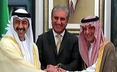 سعودی عرب اور متحدہ عرب امارات کے وزرائے خارجہ1 روزہ دورے پر پاکستان پہنچ گئے