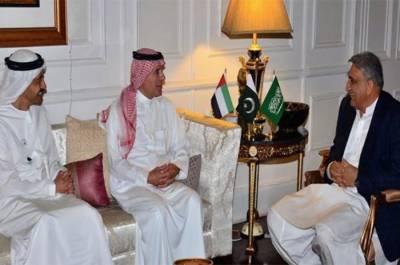 آرمی چیف جنرل قمر جاوید باجوہ سے سعودی و اماراتی وزرائے خارجہ کی ملاقات