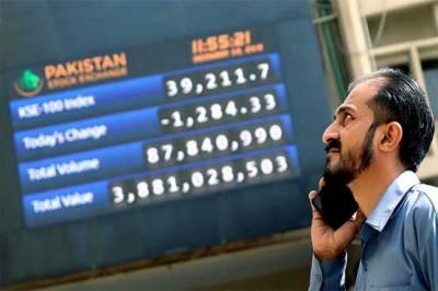 پاکستان سٹاک مارکیٹ میں مندی کا رجحان,100 انڈیکس 57 پوائنٹس کی کمی کے بعد 30 ہزار 157 کی سطح پر