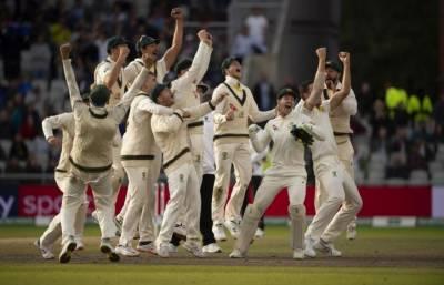 آسٹریلوی ٹیم کے جشن منانے کے انداز پر انگلش شائقین برا مان گئے