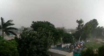 ملک میں کہیں کہیں گرج چمک کے ساتھ بارش کاامکان
