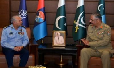 پاک فضائیہ کے سربراہ ائیر چیف مارشل مجاہد انور خان کی چیئر مین جوائنٹ چیفس آف اسٹاف کمیٹی سے ملاقات