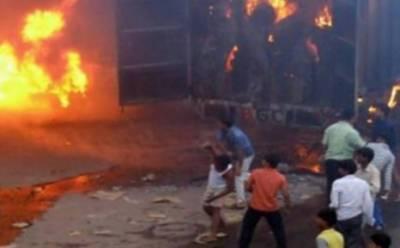 آگرہ میں مسلم کش فسادات کے دوران درجنوں دکانیں نذر آتش