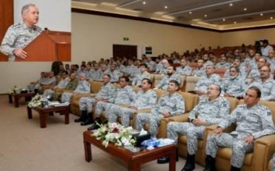 پاک بحریہ کی جنگی مشقوں شمشیر بحر VII اور ترسیل بحرII کے اختتامی اجلاس کا انعقاد