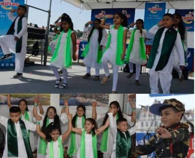 فرانس کے شہر لیون میں سفارتکاروں کے فیسٹیول میں پاکستانی بچوں نے پاکستانی کلچر پیش کیا۔