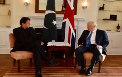 وزیراعظم کی برطانوی ہم منصب سے ملاقات، مقبوضہ کشمیر کی صورتحال سے آگاہ کیا