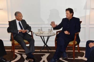 وزیر اعظم عمران خان سے ملا ئیشین ہم منصب مہاتیر محمد کی ملاقات