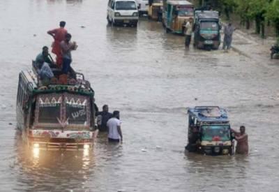 کراچی میں موسلادھار بارش, نشیبی علاقے زیر آب