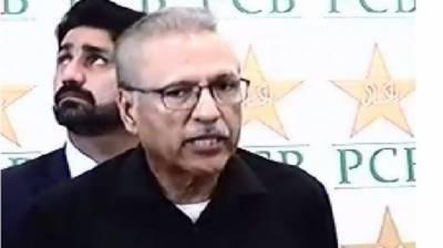 صدرمملکت عارف علوی میچ دیکھنے نیشنل سٹیڈیم کراچی پہنچ گئے